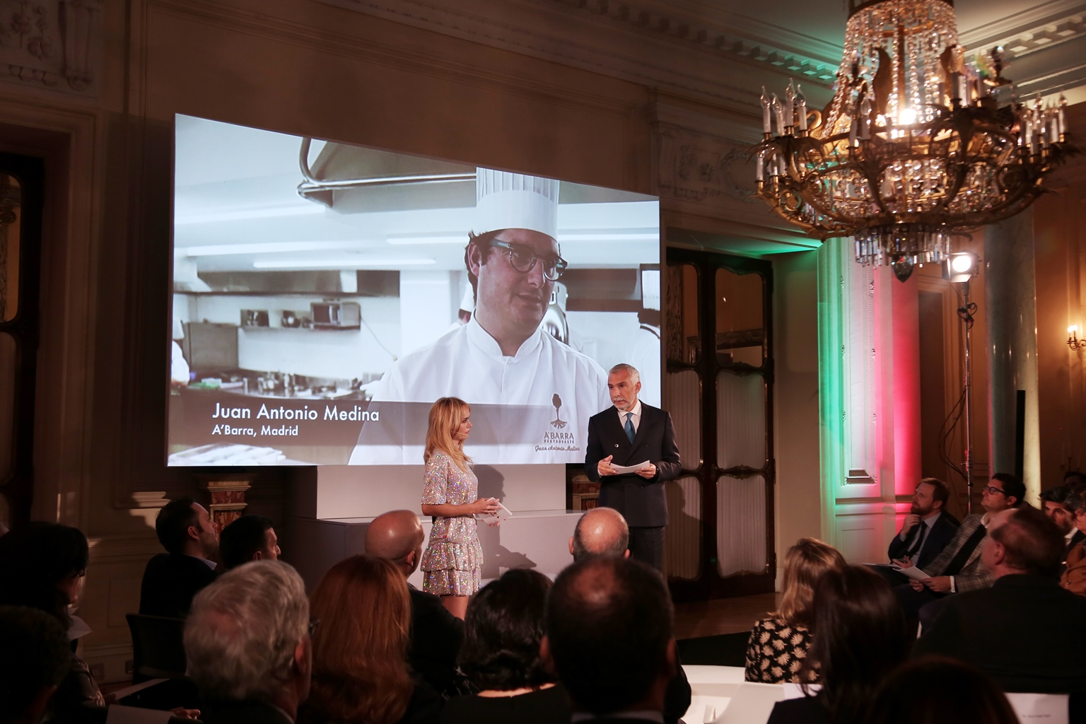 Patricia Conde y el Embajador Stefano Sannino