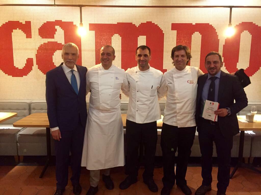 El equipo Italia-España